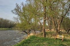 Den bra jorddelstatsparken är en stads- delstatspark på kanten av Sioux Falls, South Dakota tunnelbanaområde royaltyfria foton