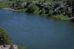 Den breda open Green River Fotografering för Bildbyråer
