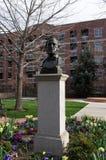 Den Brigham Young statyn, på den banbrytande minnesmärken för mormonet, centret saltar arkivbild