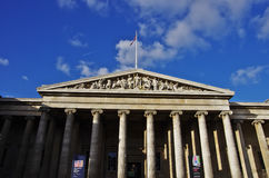 Den British Museum fasaden Royaltyfria Bilder