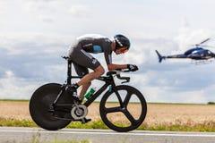 Den brittiska cyklisten Froome Christopher Arkivbilder