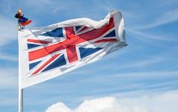 Den brittiska flaggan Arkivbilder