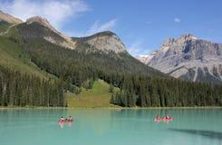den brittiska Kanada columbia smaragdlaken lokaliserade nationalparkyoho Royaltyfri Fotografi