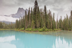 den brittiska Kanada columbia smaragdlaken lokaliserade nationalparkyoho Royaltyfri Bild