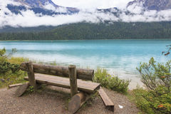 den brittiska Kanada columbia smaragdlaken lokaliserade nationalparkyoho Arkivbild