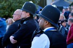 Den brittiska polisen man royaltyfria foton