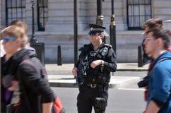 Den brittiska polisen man arkivfoton