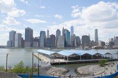 Den Brooklyn för pir 2 bron parkerar Arkivbild