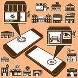 Den Brownnies mobilen shoppar Arkivbild