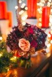 Den brud- buketten blommar closeupen Arkivfoton