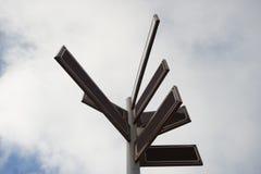 Den bruna riktningen undertecknar royaltyfri foto