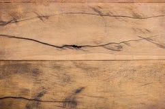 Den bruna wood plankan med gnarl Royaltyfri Foto