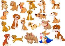 den brussels tecknad filmsamlingen dogs pekingnese mopsyorkie för griffon stock illustrationer