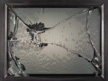 Den brutna bildskärmen av den gamla TV:N, kinescope, grej arkivbild