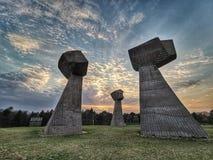 Den Bubanj minnesmärken parkerar, nis, Serbien arkivfoto