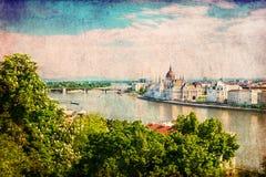 Den Budapest antennen beskådar Arkivbilder