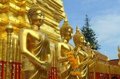 Den buddha statyn på Doi Suthep Fotografering för Bildbyråer