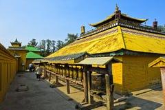 Den buddistiska bönen maler Arkivfoto