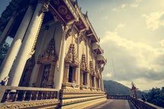 Den buddistiska fristaden på Khao ringde templet Wat Khao Rang Royaltyfria Bilder