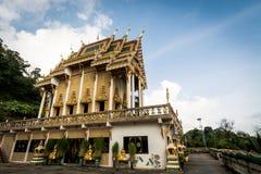 Den buddistiska fristaden på Khao ringde templet Wat Khao Rang royaltyfria foton