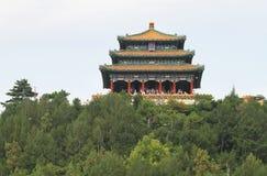 Den buddistiska templet på överkanten av Jingshan parkerar Fotografering för Bildbyråer