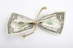 den bundna dollaren tvinnar Arkivfoton