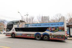 Den Busan staden turnerar bussen Arkivbilder