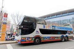 Den Busan staden turnerar bussen Arkivbild