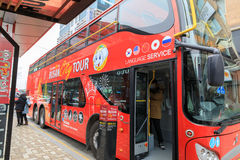 Den Busan staden turnerar bussen Royaltyfria Foton