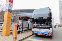 Den Busan staden turnerar bussen Royaltyfria Bilder