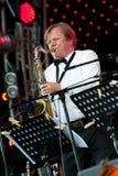 den butman igor jazzmusiker utför ryss Arkivbilder