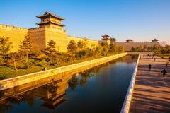 Den byggande om stadsväggen av Datong. fotografering för bildbyråer