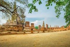 Den byggda strukturen, monumentet som är gammal fördärvar, Asien, Ayuthaya Arkivbilder