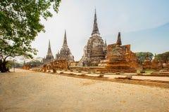 Den byggda strukturen, monumentet som är gammal fördärvar, Asien, Ayuthaya Royaltyfri Foto