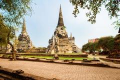 Den byggda strukturen, monumentet som är gammal fördärvar, Asien, Ayuthaya Arkivfoto