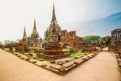 Den byggda strukturen, monumentet som är gammal fördärvar, Asien, Ayuthaya Arkivfoton