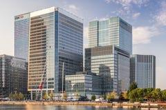 Den byråCanary Wharf för europeiska mediciner HQEN royaltyfri bild