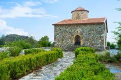 Den bysantinska kyrkan i det Troodos området Royaltyfri Bild