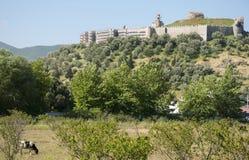 Den bysantinska slotten av Ayasuluk, Selcuk, Turkiet Royaltyfri Fotografi