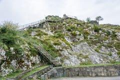 Den Bzyb tempel-fästningen av epoken av det Abkhazian kungariket, Arkivbild