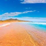 Den Calblanque stranden parkerar Manga Mar Menor Murcia arkivfoton