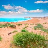 Den Calblanque stranden parkerar Manga Mar Menor Murcia Fotografering för Bildbyråer