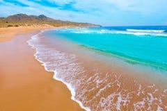 Den Calblanque stranden parkerar Manga Mar Menor Murcia Royaltyfria Foton
