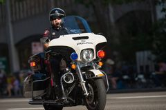 Den Calgary polisen staden av Calgary Arkivfoto