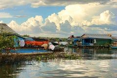 den cambodia laken underminerar tonle Royaltyfri Bild