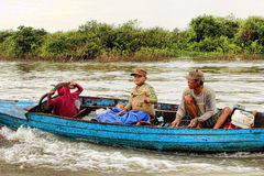 den cambodia laken underminerar tonle Royaltyfria Bilder
