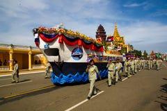 Den Cambodja självständighetsdagen Royal Palace försilvrar pagoden Royaltyfri Fotografi
