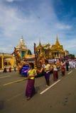Den Cambodja självständighetsdagen Royal Palace försilvrar pagoden Royaltyfria Foton