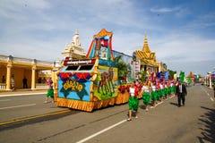 Den Cambodja självständighetsdagen Royal Palace försilvrar pagoden Fotografering för Bildbyråer