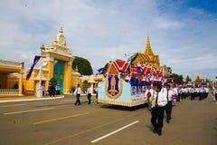 Den Cambodja självständighetsdagen Royal Palace försilvrar pagoden Royaltyfri Foto